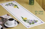 632585 Permin Easter Flowers - Table Runner