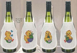 785169 Permin Easter Chick Bottle Aprons  Set of 4
