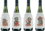 784106 Permin Teddys - Peach Bottle Aprons