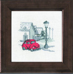 147111 Permin Red Car on street