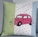 834326 Permin VW Pink Car  Pillow