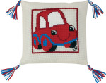 834195 Permin Red Car Pillow