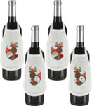 785214 Permin Rudolf Bottle Aprons (2 designs-4 aprons)