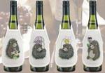 784833 Permin Hedgehog Bottle Aprons  Set of 4