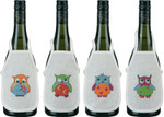 784199 Permin Owls Bottle Aprons