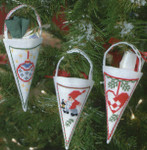 014215 Permin Christmas Cone White (3 designs)