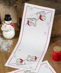 635642 Permin Ice/Bear Table Runner