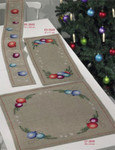 653649  Permin Christmas Ball  Table Runner   (top left)