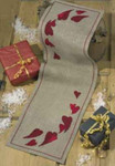 681296 Permin Christmas Hearts Tablerunner
