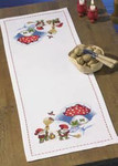 682237 Permin Elf & Toadstool Tablerunner