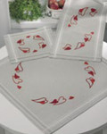 632871 Permin Christmas Hearts  Table Runner (top right)