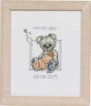 925149 Permin Baby Boy and Teddy  Birth Announcement