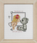 925146 Permin Girl and Teddy  Birth Announcement