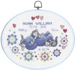 924752 Permin Boy Birth Announcement  with Oval Hanger