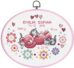 924751 Permin Girl Birth Announcement  with Oval Frame