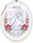 923707 Permin Boy Birth Announcement  Oval Hanger
