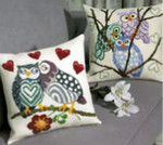 833823  Permin Owl Love Pillow  (left)