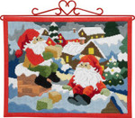 705690 Permin Long Stitch Kit Elfs on the Roof - Bellpull