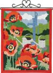 704860 Permin Long Stitch Kit Poppies- Bellpull