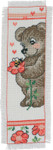 054116 Permin Teddy with Flower