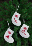014270 Permin Reindeer Stocking Ornaments (White)