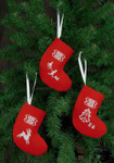014271 Permin Reindeer Stocking Ornaments (Red)