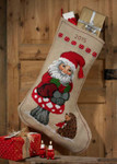 414248 Permin Elf and Hedgehog  Stocking