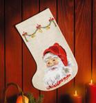 413250 Permin Merry Santa Claus Stocking