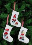214235 Permin Elf Stocking Ornaments  (3 Designs)