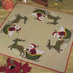451215 Permin Santa in Sleigh Tree Skirt