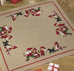 452218 Permin Elf and Dog Tree Skirt