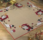 452219  Permin Elf and Snowman Tree Skirt
