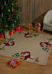 454250 Permin Santa Christmas Owl - Tree Skirt