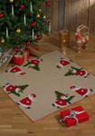 454252 Permin Santa Claus on Skates - Tree Skirt