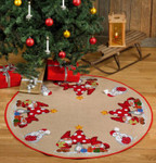 455228 Permin Elves and Snowman Tree Skirt