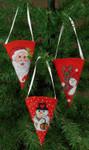 015244 Permin cones Santa, Snowman, Reindeer (3 designs)
