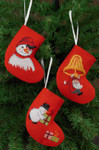 015243 Permin Socks Snowmen & Elf (3 designs)