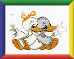 RLHB21 Riolis Cross Stitch Kit Grandma's Merry Geese - Happy Bee