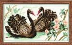 RL806 Riolis Cross Stitch Kit Black Swans