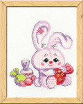 RLHB119 Riolis Cross Stitch Kit Bunny With A Candy- Happy Bee