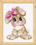 RLHB105 Riolis Cross Stitch Kit Baby Rabbit - Happy Bee