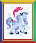 RLHB142 Riolis Cross Stitch Kit Gentle Snow - Happy Bee