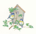 "HCK1007 Heritage Crafts Kit Nesting Box - Sue Hill Collection 5.5"" x 6.25"" ; Evenweave; 28ct  n"