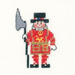 "HCK1019A Heritage Crafts Kit Beefeater - Mini Kit 2.5"" x 2.5"" ; Aida; 14ct"