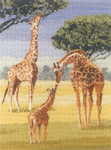"HCK1023 Heritage Crafts Kit Giraffes by John Clayton - Power & Grace 8.75"" x 12.75""; Evenweave; 27ct"