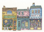 "HCK1291A Heritage Crafts Kit High Street - Peter Undersell Collection 7"" x 5.5""; Aida; 14ct"
