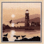 "HCK532 Heritage Crafts Kit Guiding Light - Silhouettes by Phil Smith 5"" x 5""; Evenweave; 28ct"