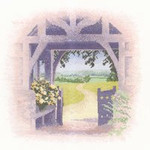 "HCK835 Heritage Crafts Kit Lych Gate by John Clayton - Outlooks 9.5"" x 9.5""; Evenweave; 27ct"