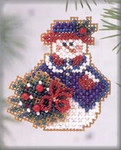 H112 Mill Hill Wintertime Snowlady (2003) Seasonal Ornament Kit