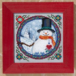 JS149102 Mill Hill Southern Snowman by Jim Shore (2009)
